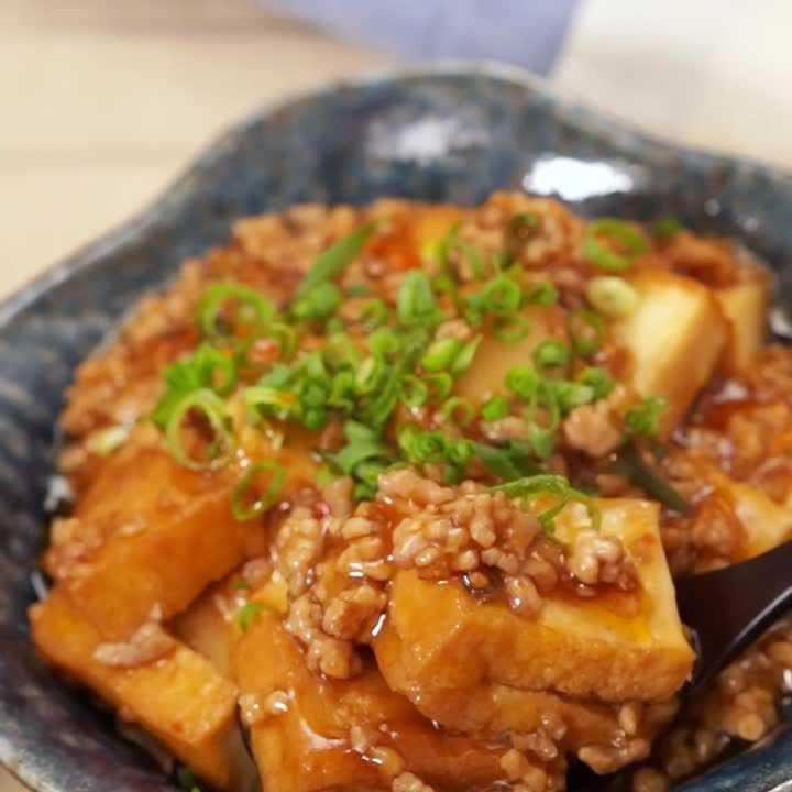 厚 揚げ 小松菜 ひき肉