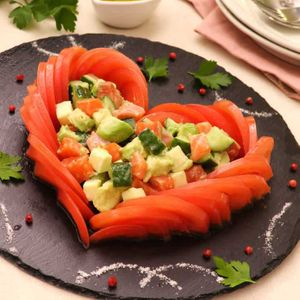 「ハートトマト」のレシピ動画