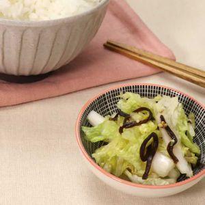 「白菜と塩昆布の漬物」のレシピ動画