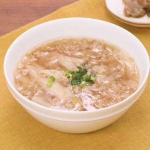 「餃子の皮でワンタンスープ」のレシピ動画