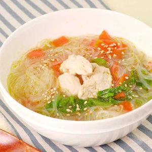 「ささみとレタスの春雨スープ」のレシピ動画