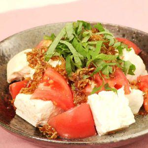 「トマトとじゃこの豆腐サラダ」のレシピ動画
