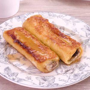 「バナナカラメルフレンチトースト」のレシピ動画