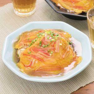「かにたま風天津飯」のレシピ動画