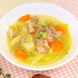 「野菜メインの具だくさんスープ」のレシピ動画