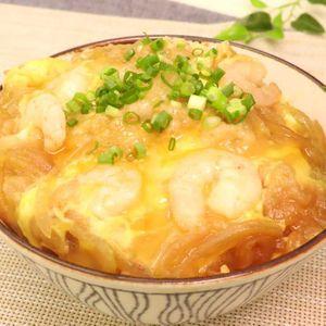 「エビ天風卵とじ丼」のレシピ動画