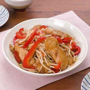 「もやしと鶏肉の甘酢炒め」のレシピ動画