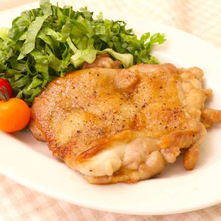 簡単味付け! 鶏もも肉のポン酢ソテー