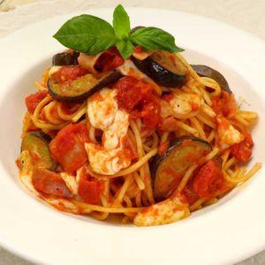 「なすのモッツァレラトマトパスタ」のレシピ動画