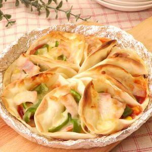「餃子の皮でつまみピザ」のレシピ動画