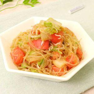 「トマトと白菜の春雨サラダ」のレシピ動画
