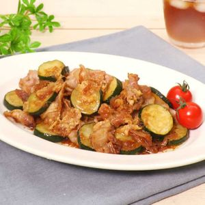 「ズッキーニと豚肉のしょうがぽん酢」のレシピ動画
