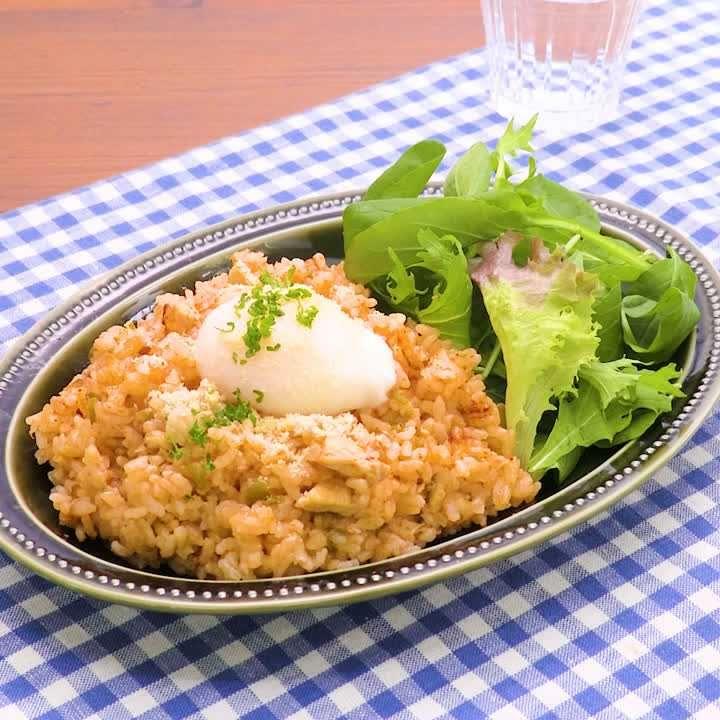 ライス 人気 チキン レシピ 器 炊飯