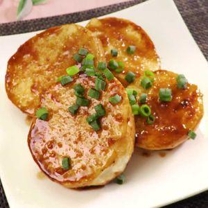 「山芋ステーキ にんにくバターしょうゆ」のレシピ動画