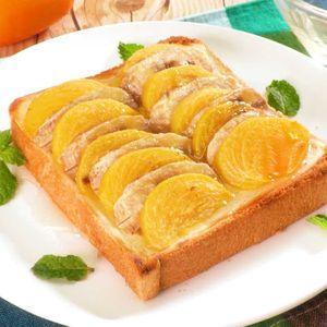 「柿とバナナのトースト」のレシピ動画