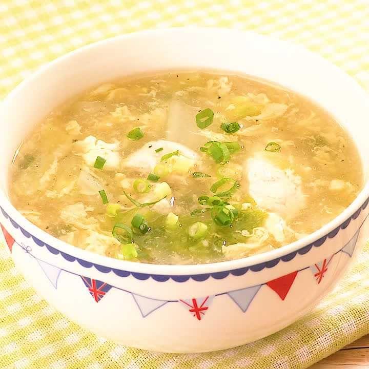 スープ 白菜 卵