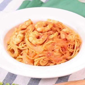 「えびのトマトクリームパスタ」のレシピ動画