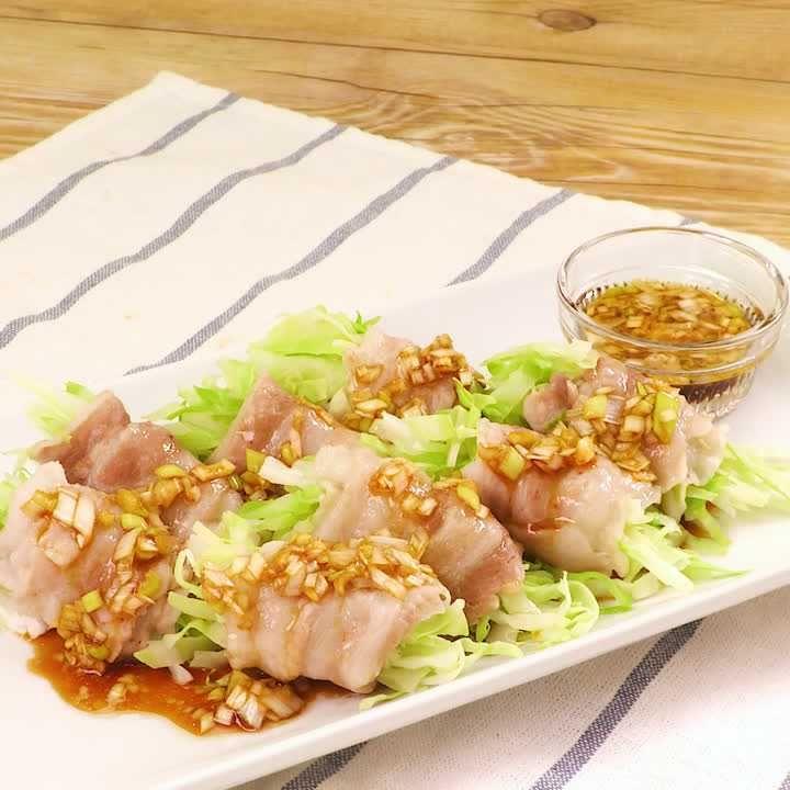 豚肉 ポン酢 キャベツ