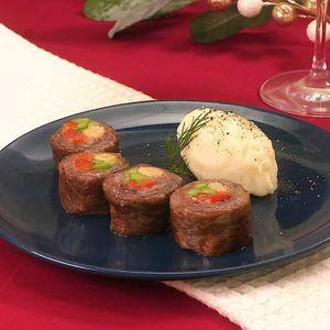 「牛肉ロールステーキ」のレシピ動画