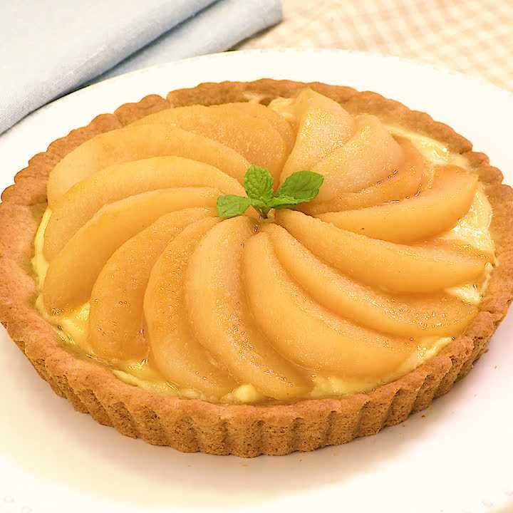ホットケーキミックスで! 梨のキャラメルタルト