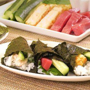 「手巻き寿司」のレシピ動画
