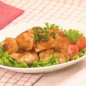 「鶏むね肉のガリバタチキン」のレシピ動画