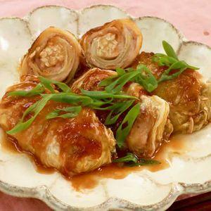 「ロール白菜照り焼き」のレシピ動画