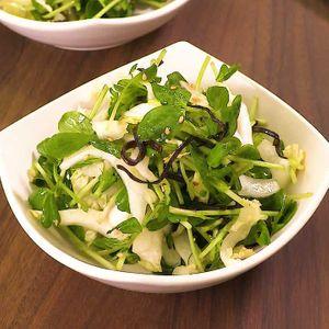 「豆苗と白菜の塩昆布ナムル」のレシピ動画