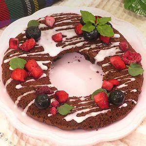 「クリスマスリースケーキ」のレシピ動画