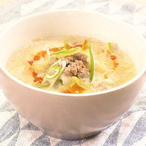 「キャベツの豆乳担々風スープ」のレシピ動画
