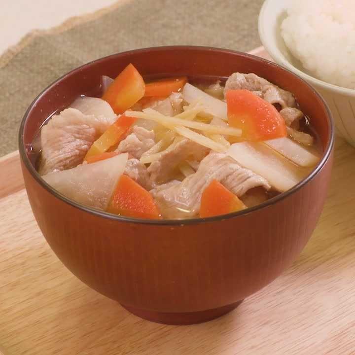 人気 豚汁 レシピ