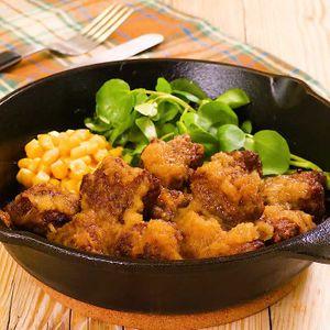 「ひき肉サイコロステーキ」のレシピ動画