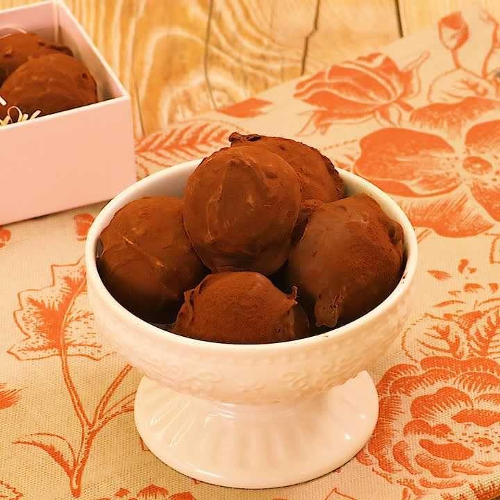 チョコ レシピ トリュフ