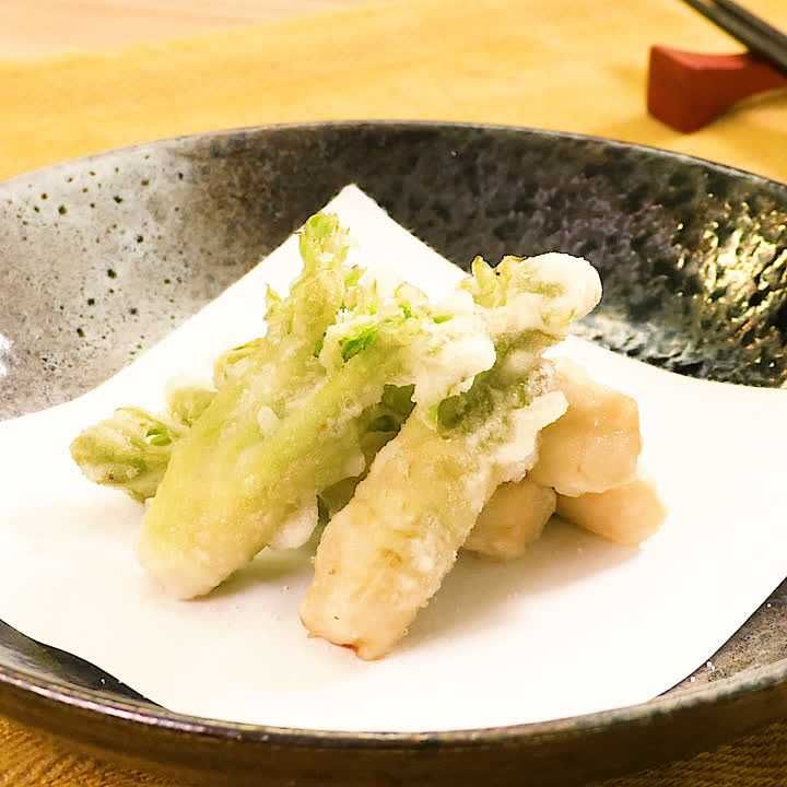 ホクホク食感! たらの芽の天ぷら