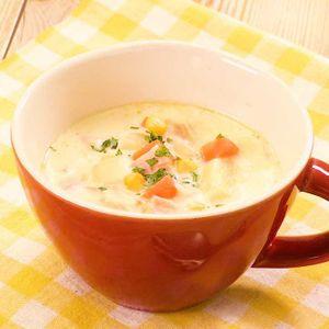 「具沢山つぶつぶコーンスープ」のレシピ動画