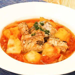 「サバ缶のトマト煮」のレシピ動画