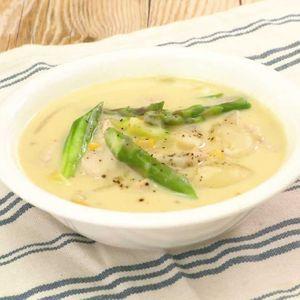 「鶏肉とアスパラのコーンクリーム煮」のレシピ動画