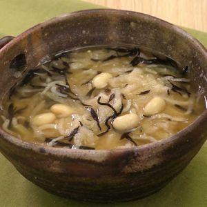 「おからと切り干し大根のスープ」のレシピ動画