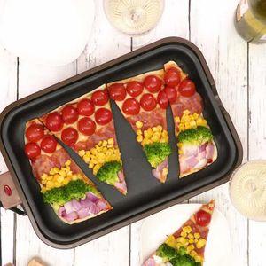 「カラフルプレートピザ」のレシピ動画