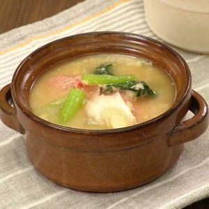 「おからみそスープ」のレシピ動画