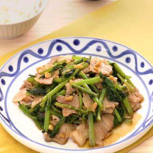 「豚肉と大根菜のオイスター炒め」のレシピ動画