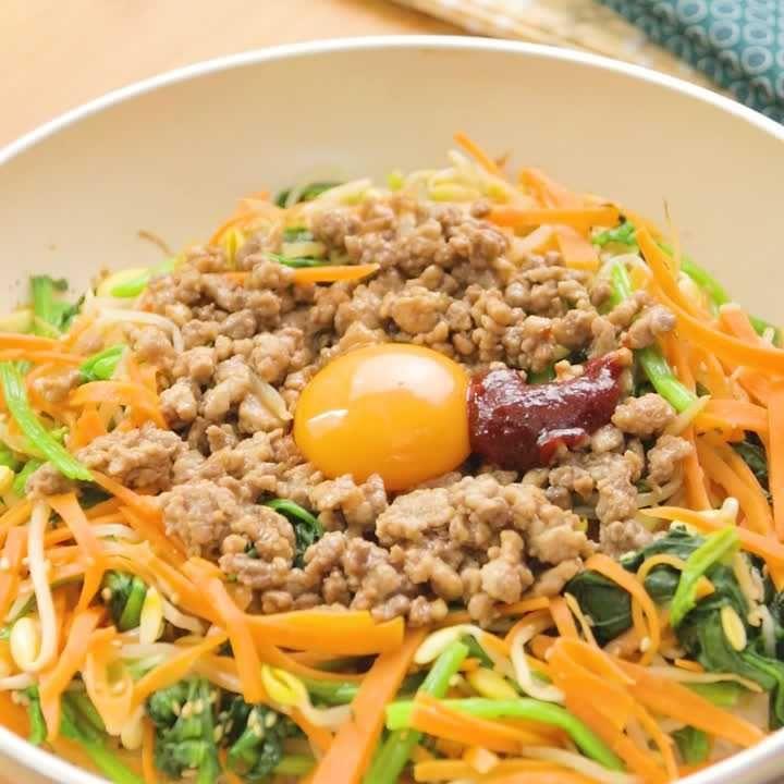 ひき肉 ビビンバ レシピ