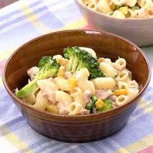 「ブロッコリーとツナのマカロニサラダ」のレシピ動画