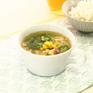 「オクラのとろとろスープ」のレシピ動画