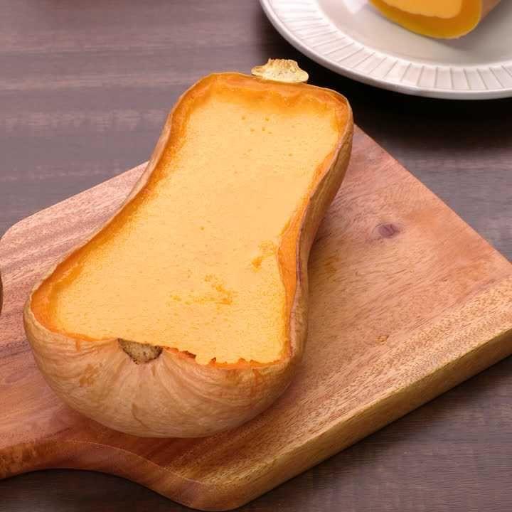 とっても濃厚♪ バターナッツかぼちゃの丸ごとのプリン