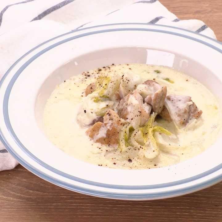 煮 クリーム 白菜 鶏肉