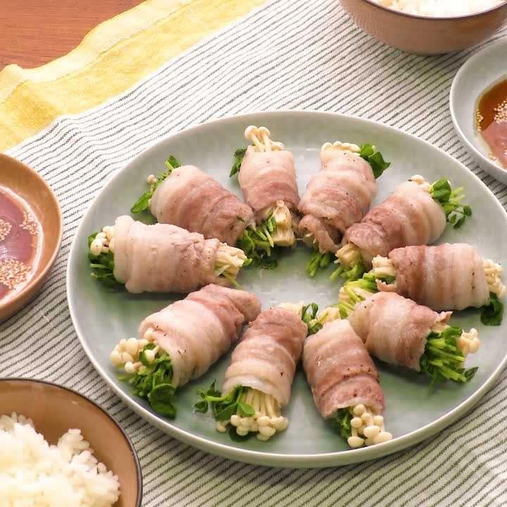 豚 バラ えのき 巻き えのきと豚肉とポン酢で簡単豚肉料理!えのきポークロールのレシピ