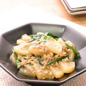「大根とにらの中華煮」のレシピ動画