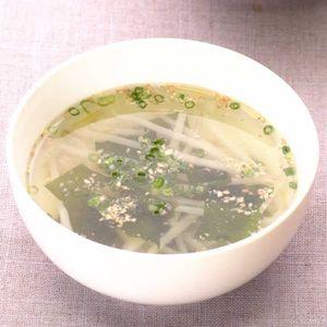 「もやしとわかめの中華スープ」のレシピ動画