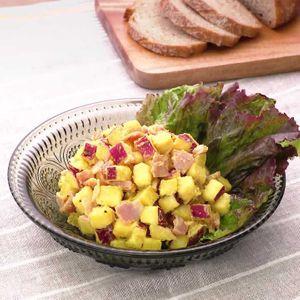 「さつまいもとベーコンのサラダ」のレシピ動画
